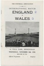 More details for nov 58 england v wales