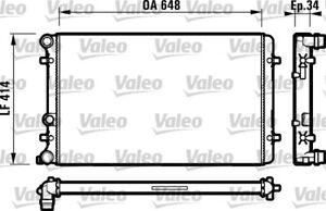 Valeo Radiator 732427 fits Volkswagen Bora 1.6 (1J2), 2.0 (1J2), 2.3 V5 (1J2)...