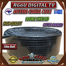 50m Roll RG6U TV Antenna Satellite Coax /Coaxial Digital Cable Wire METRE Marked