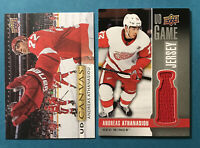Andreas Athanasiou Lot X2 2019-20 Upper Deck Series 1 UD Game Jersey & Canvas