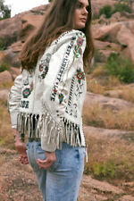 DOUBLE D RANCH Beat of theTom Tom Fringe Leather Jacket 1XL $798