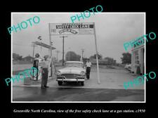 OLD POSTCARD SIZE PHOTO OF GREENVILLE NORTH CAROLINA THE SAFETY CAR CHECK 1950