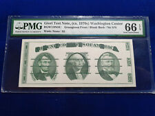 $5 GIORI TEST NOTE 1970s PMG 66 GEM UNCIRCULATED EPQ GRASSGREEN FRONT BLANK RARE