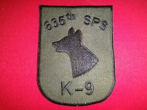USAF 635th SECURITY POLICE SQUADRON K-9 At UTAPAO Thailand Subdued Patch