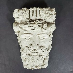Wall Hanging Poseidon God of the Sea Carved Stone Made in Ireland
