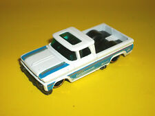 # HOTWHEELS WHITE '62 1962 CHEVY CHEVROLET CUSTOM PICKUP TRUCK MADE IN MALAYSIA