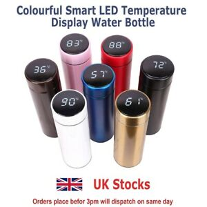 500ml LED Display Water Bottles 500-1500ml Double Wall Hot/Cold Flasks Thermos