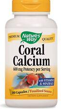 Nature's Way Coral Calcium 180 Capsules 600mg Per Serving With Vit. & Minerals