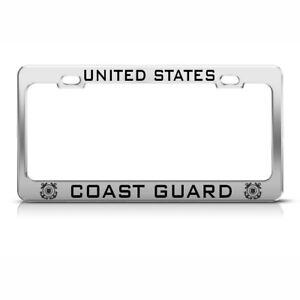 United States Coast Guard Heavy Duty Tag Steel Metal License Plate Frame