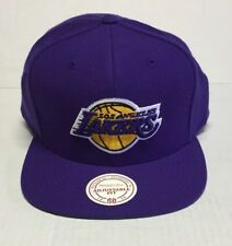 MITCHELL & NESS SNAPBACK #NZ979 NBA LOS ANGELES LAKERS WOOL SOLID PURPLE