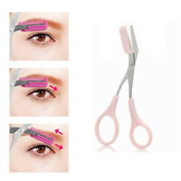 Eyebrow Trimmer Grooming Scissors Eyelash Thinning Shears Comb Brow Shaping Tool