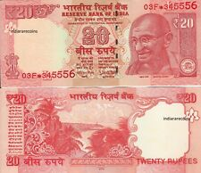 India 20 Rs 2018 Star Replacement Note 03F Prefix L Inset Paper Money Unc New
