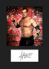 KANE #1 (WWE) Signed (Reprint) Photo A5 Mounted Print - FREE DELIVERY