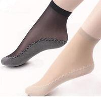 10pcs Pop Women Velvet Silk Socks Cotton Bottom Non Slip Sole Massage Socks MEC