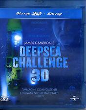 JAMES CAMERON'S DEEP SEA CHALLENGE 3D (2014)con James Cameron BLU RAY NUOVO