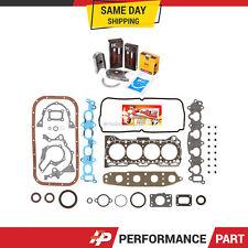Full Gasket Set Bearings Rings for 92-01 Suzuki GEO Chevrolet 1.6 G16KV
