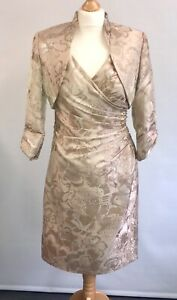 L'ATELIER Mother of The Bride Dress with Bolero Wedding Ascot Races Outfit UK 10