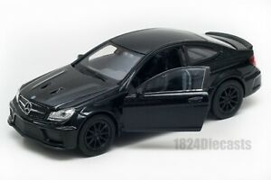 Mercedes-Benz C 63 AMG Coupe black, Welly scale 1:34-39, model toy car gift