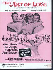 The Art of Love 1965 James Garner Dick Van Dyke Elke Sommer Sheet Music