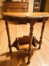 Antique Solid Wood End Table Hallway Entry Night Stand Small Shelf Free Shipping