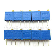 10PCS 200 Ohms 3296 3296W  Trimmer Potentiometer Pot Variable Resistor 201