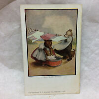 Vintage Postcard Busy Bears by J. I. Austen Co. Chicago