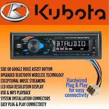 Kubota Tractor Rtv 1100 Radio Am Fm Bluetooth Mp3 Usb Siri W Plug Amp Play Harness
