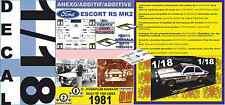 ANEXO DECAL 1/18 FORD ESCORT A.VATANEN or P.AIRIKKALA 1000 LAKES R. 1981 (04)