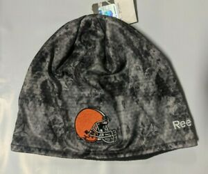 Cleveland Browns Knit Beanie Toque Winter Hat Skull Cap - New - Grey Gray Camo