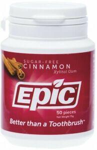 Epic Xylitol Chewing Gum Cinnamon 50Pcs