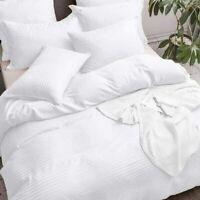 Luxury Stripe Duvet Cover Bedding Set 100% Egyptian Cotton 400TC Double King Bed