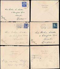 MARITIME 1936-38 GLEN LINE ENVELOPES from HOLLAND BELGIUM GERMANY...3 ITEMS