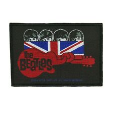 The Beatles Union Jack Guitar Patch English Rock Band Woven Sew On Applique
