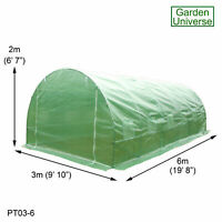 Polytunnel Garden patio greenhouse 25mm Galvanised Frame desig Poly Tunnel 3 x 6