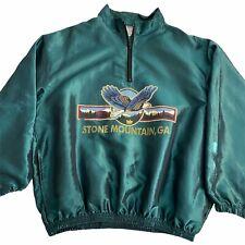 Vintage 80s Veste Coupe-Vent Sud-Ouest Mens L Satin Vert Pierre Montagne Ga