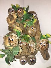 Hand painted Cute Owl rocks/stones W/ Googly Eyes-Perfect Gift /Set of 5 Stones/