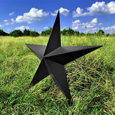 "Black Rustic Dimensional Barn Star - 34"" Country Farmhouse Home Decoration"