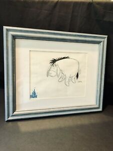 Disney Art Eeyore From Winnie The Pooh Original Animation Drawing Signed