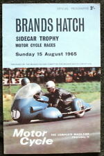 BRANDS HATCH MOTOR CYCLE RACING PROGRAMME 15 AUG 1965