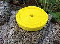 Yellow 25mm 1 inch Nylon Webbing Tape x 10 meters