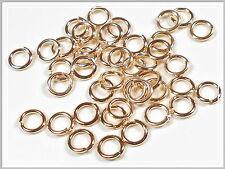 100 Binderinge Spaltringe 6mm rose gold Schmuckzubehör Zubehör