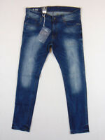 G-Star Raw ATTACC Super Slim W36 L34 Mens Blue Mezon Stretch Denim Jeans