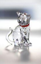 Cristal de Swarovski Gato madre sentada Collar Rojo 1193526 como nuevo en caja retirado Raro