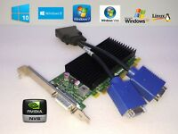NVIDIA NVS Dual VGA Monitor Video Card + Cable for HP Pro 3300 Tower