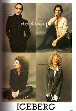 1993 Iceberg Farrah Fawcett Peggy Lipton Steven Meisel Vintage Print Ad 1990s