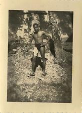 PHOTO ANCIENNE - VINTAGE SNAPSHOT - HOMME TORSE NU GAY MAILLOT DE BAIN AFRIQUE