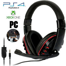 Stereo 3.5mm Wired Gaming Headset Headphone For PS4 Xbox One Nintendo Switch PC