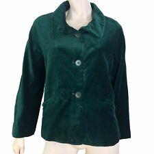Talbots Suit Jacket Blazer Women Size 8 Petite Button Velvet Holiday Green
