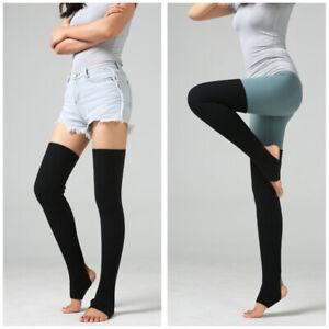 Women Winter Leg Warmers Over Knee Crochet Knit Legging Dance Ballet Long Socks