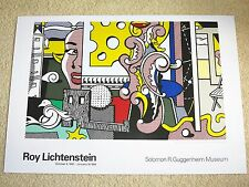 "ROY LICHTENSTEIN POSTER ""GO FOR BAROQUE"" 1994 GUGGENHEIM MUSEUM ORIGINAL PLAKAT"